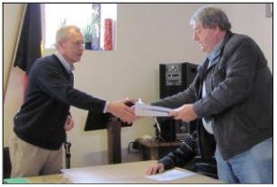 Remise de la pétition